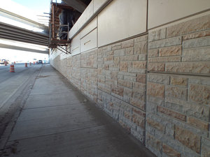 Modified Ashlar Stone. Zoo Interchange at Watertown Plank Road, Milwaukee, WI